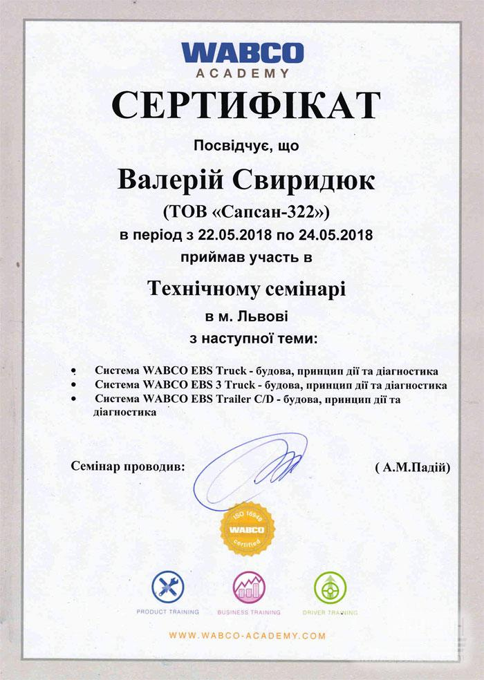 Компьютерная диагностика WABCO. ECAS, EBS, ABC, TEBS C/D Днепропетровск Сапсан-322